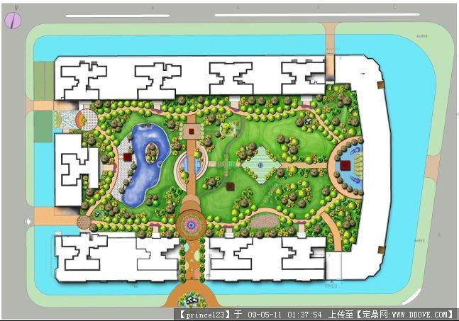 小区绿化设计平面效果