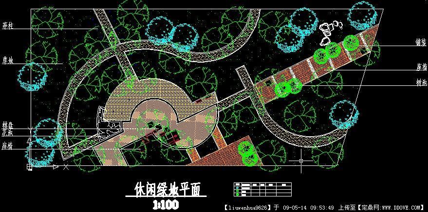 小休闲绿地平面方案设计