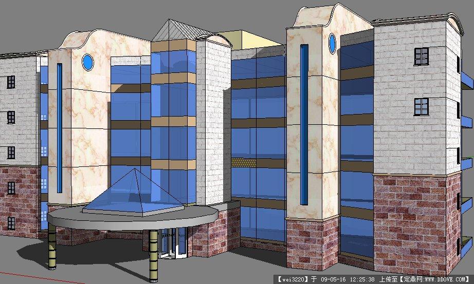 定鼎网 设计素材 三维模型 建筑模型 国家图书馆.skp  2 1.780m