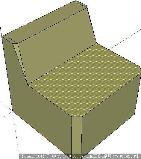 草图大师组合沙发模型分享;