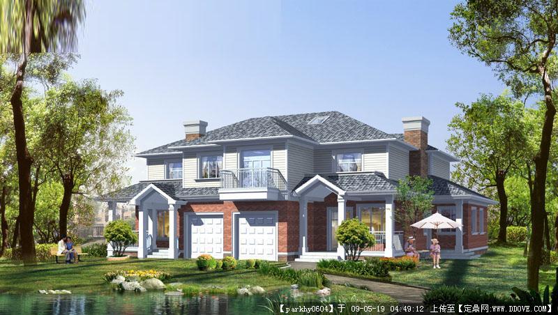 别墅外墙三色砖效果图,别墅外墙效果图二层楼,四层别墅外墙效果高清图片