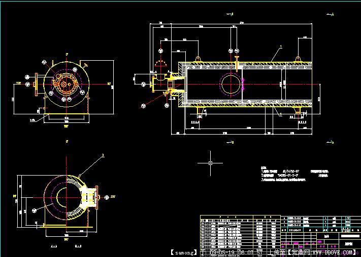 黄磷尾气燃烧炉结构图