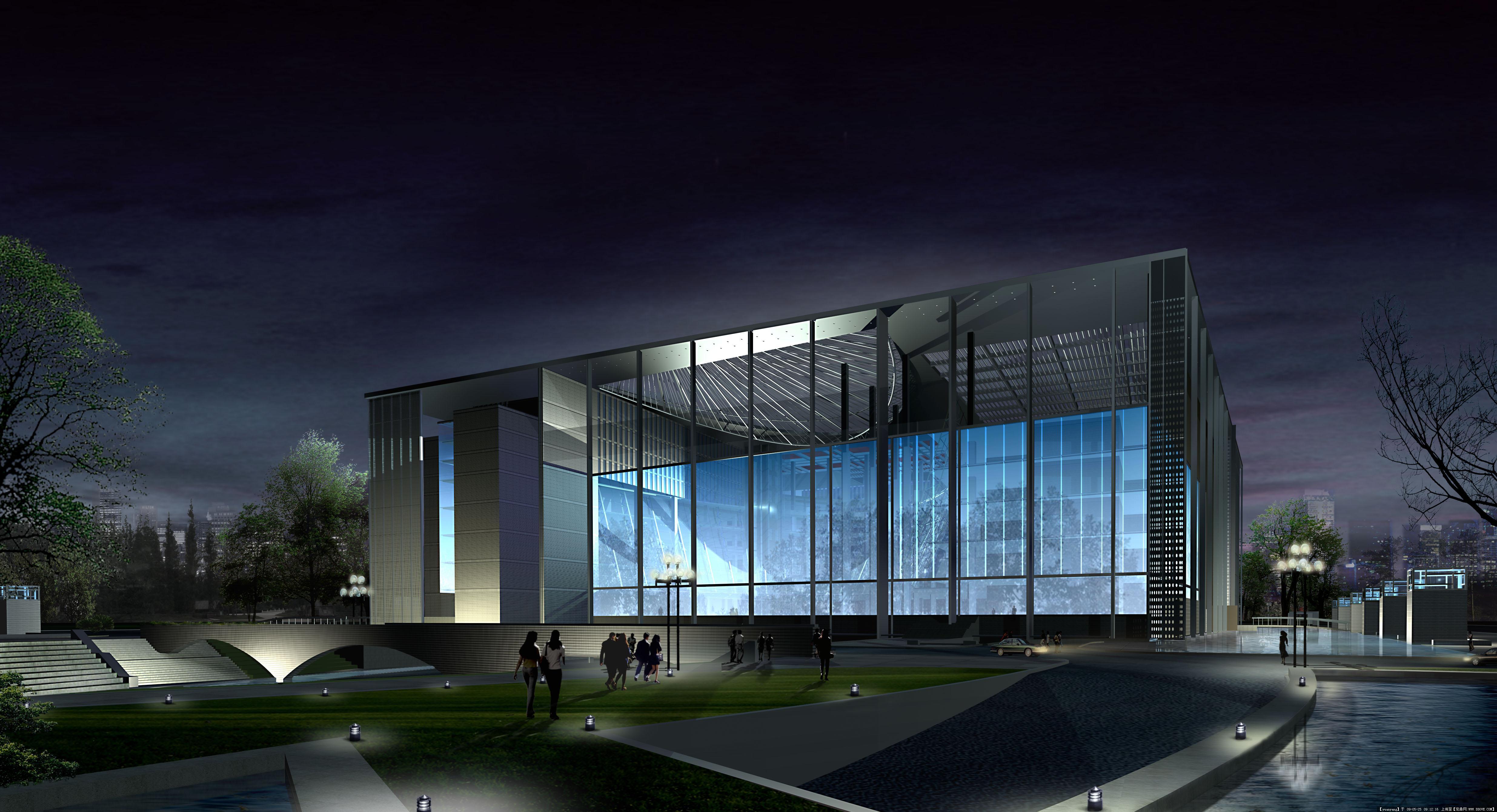 南京图书馆建筑设计全套效果图