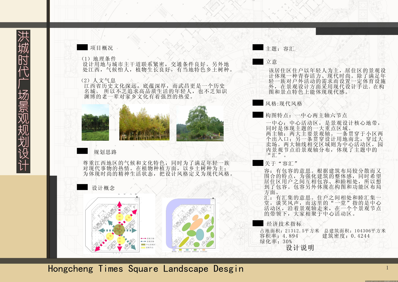 某居住区景观规划设计-毕业设计的图片浏览,园林设计
