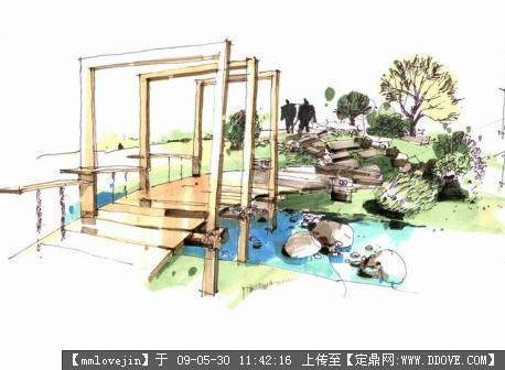 效果图 手绘/马克笔手绘效果图的图片浏览 园林效果图