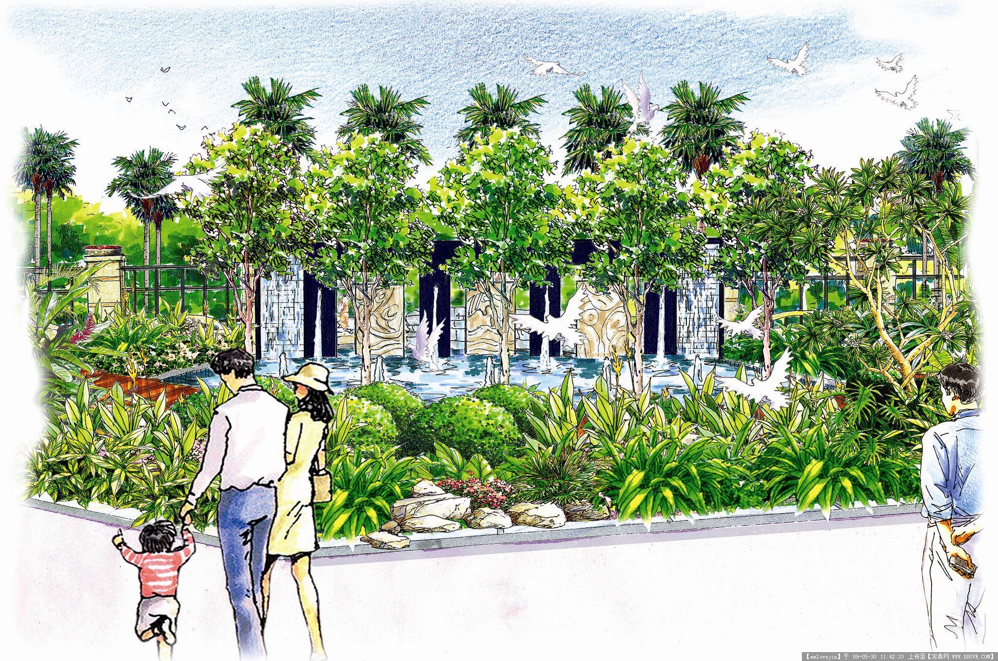 马克笔手绘效果图的图片浏览,园林效 果图,手绘效果,.