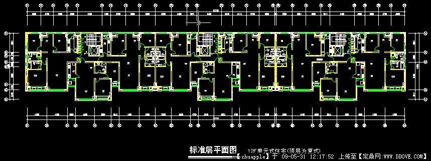 某高层住宅建筑平面图