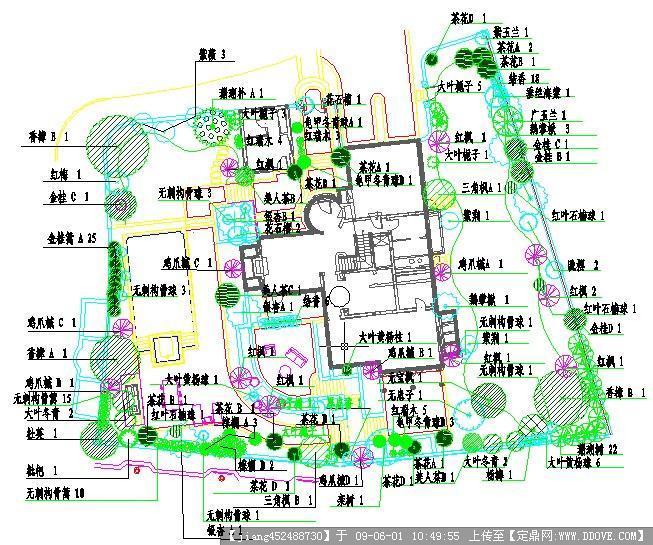 别墅绿化种植平面图