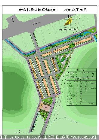 定鼎网 定鼎园林 园林方案设计 城乡规划 新农村修建性详细规划总平面