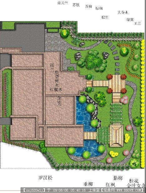 现代庭院手绘效果图