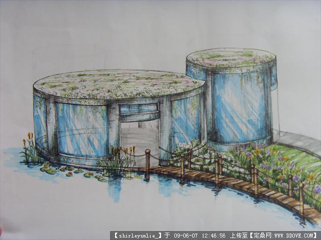 动手网 -> 建筑模型-临水茶室设计模型 (9