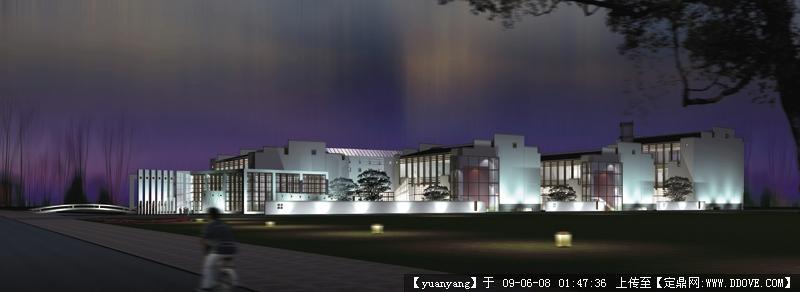 云罡同汇-衢州博物馆夜1效果图