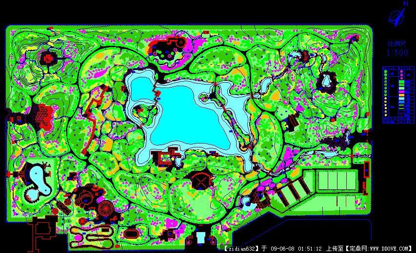 定鼎网 定鼎园林 园林方案设计 公园景观 某公园绿地规划设计  序号