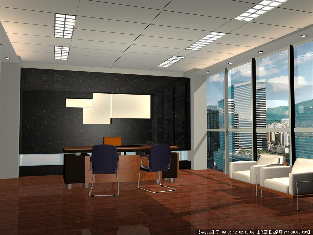办公室3d源文件(); 某公安局办公楼室内装修全套图纸(含效果图,; 某