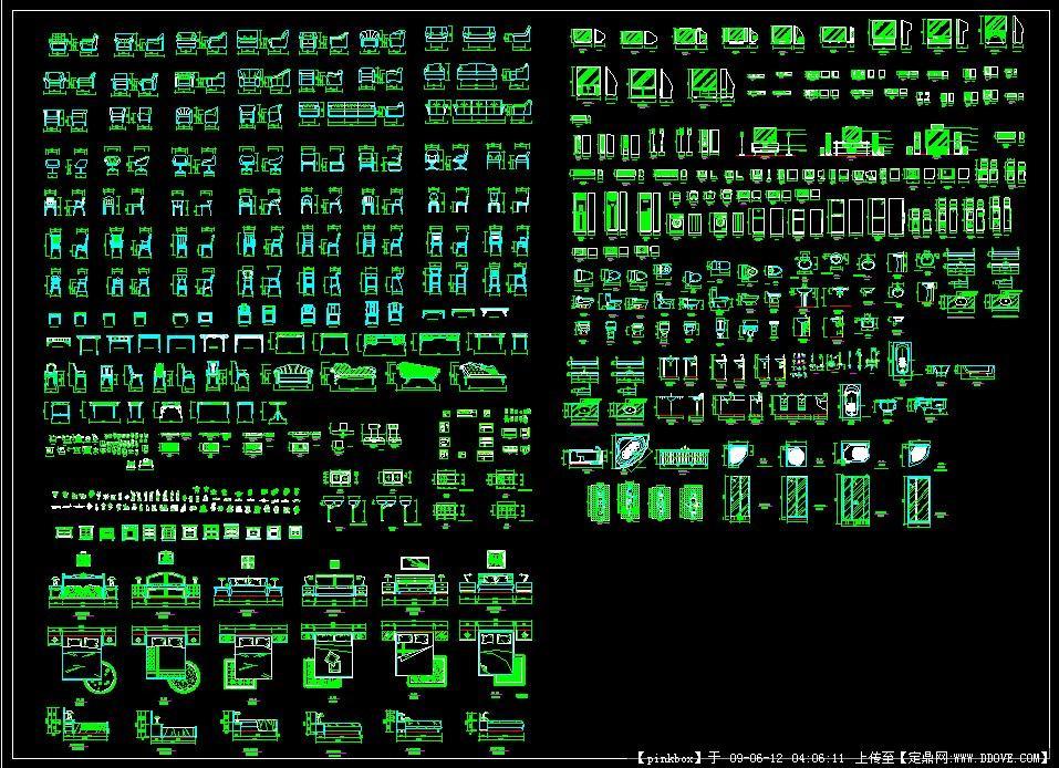 图库室内CAD常用()cad多段线加入到图片