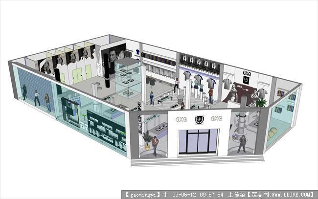 服装专卖店设计案例_公司专卖店设计ppt服装设计师什么问问题ui图片