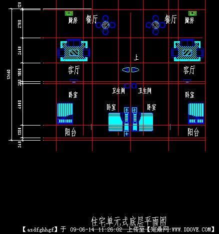 某住宅布局平面图
