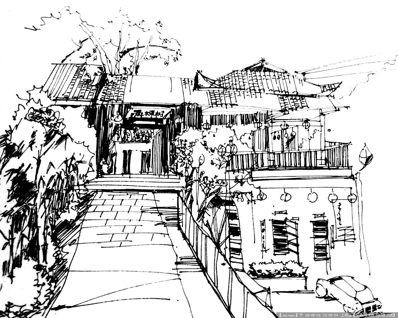 河西两棵树餐厅手绘效果的图片浏览,室内效 果图,酒楼