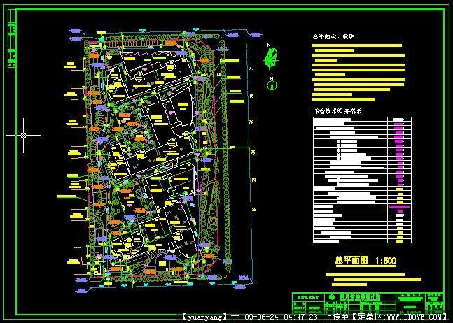 方案设计 万科某大型居住区建筑全套扩初文本 万科某社区建筑施工图