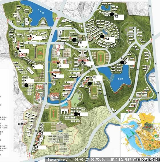 三峡大学校园手绘地图