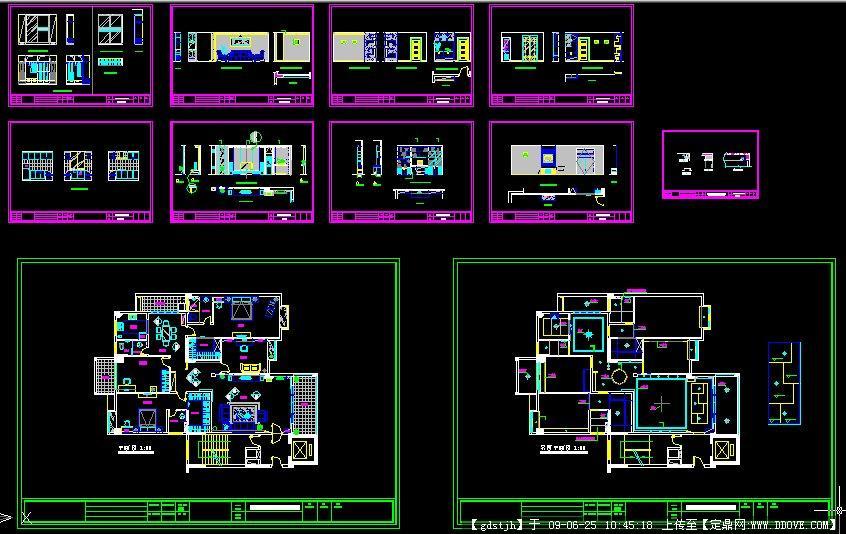 某全套图纸住宅内装饰设计样品图纸自动化网非标房室图片