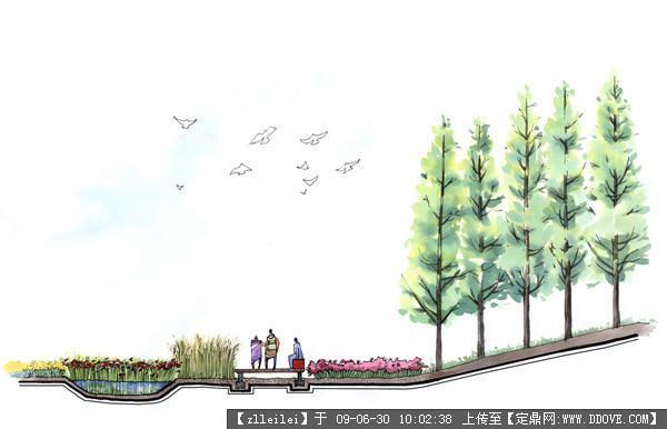 风景园林小品手绘图30张