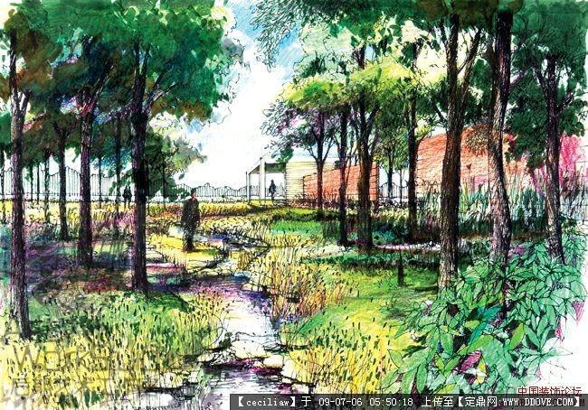 诗意的栖居 土人景观手绘效果图集的图片浏览,园林效