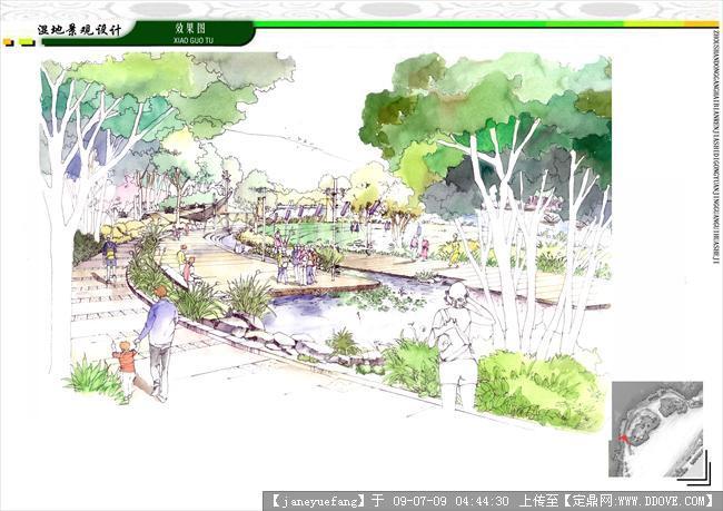 毕业设计景观手绘作品的图片浏览,园林项目案例,滨水