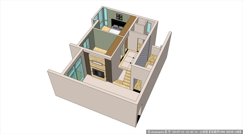 sketchup室内设计案例