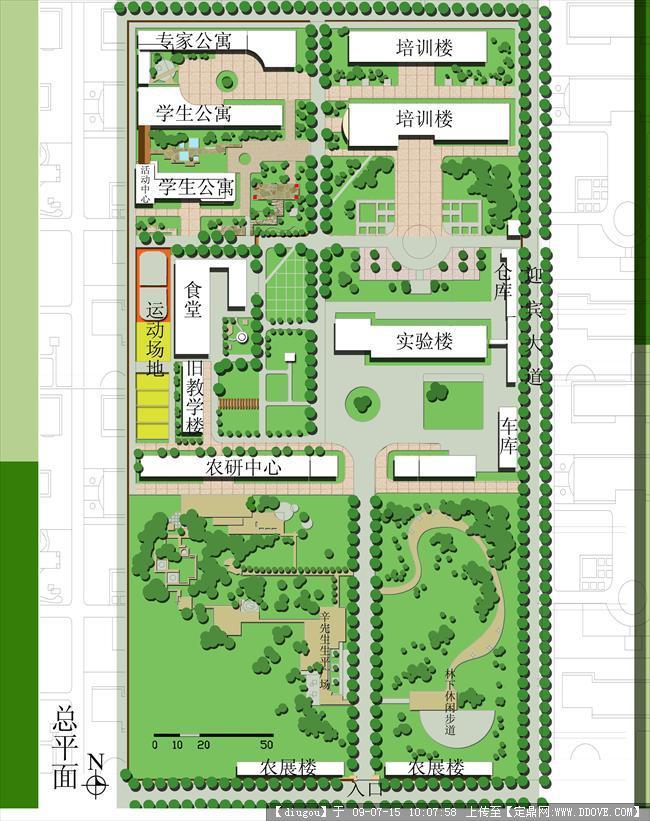 校园平面图的下载地址,园林方案设计,校园景观,园林_.