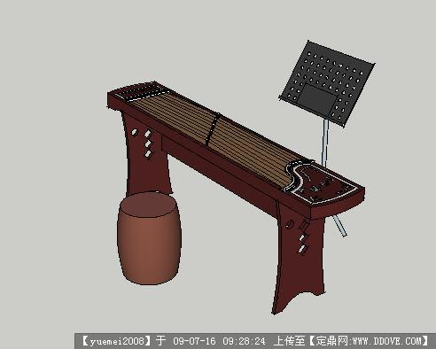 草图大师欧式茶几模型