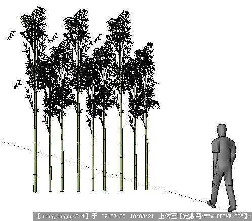 竹子和人sketchup模型的下载地址