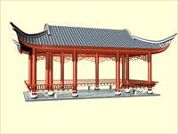 水榭回廊模型古建筑3DMAX模型
