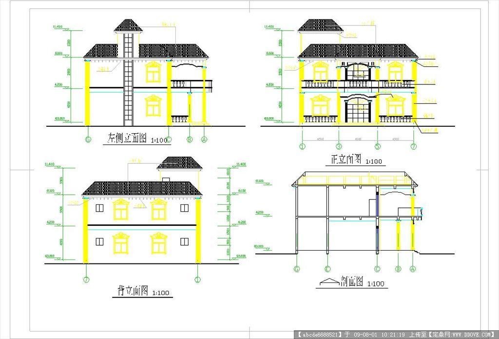 南方地区实用别墅建筑施工图