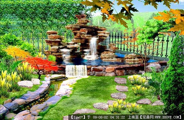 一组山水园艺景观实景照片图片