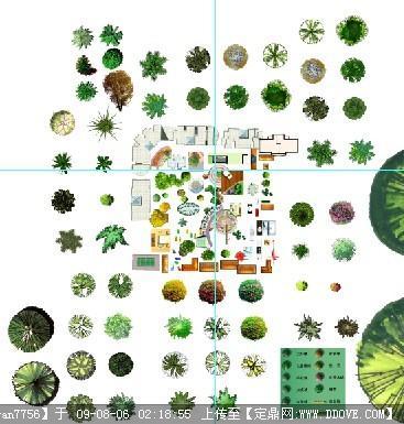 ps素材包括【平面树,屋顶盖,户型等等】