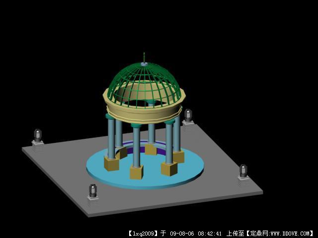 现代欧式亭子3dmax模型文件
