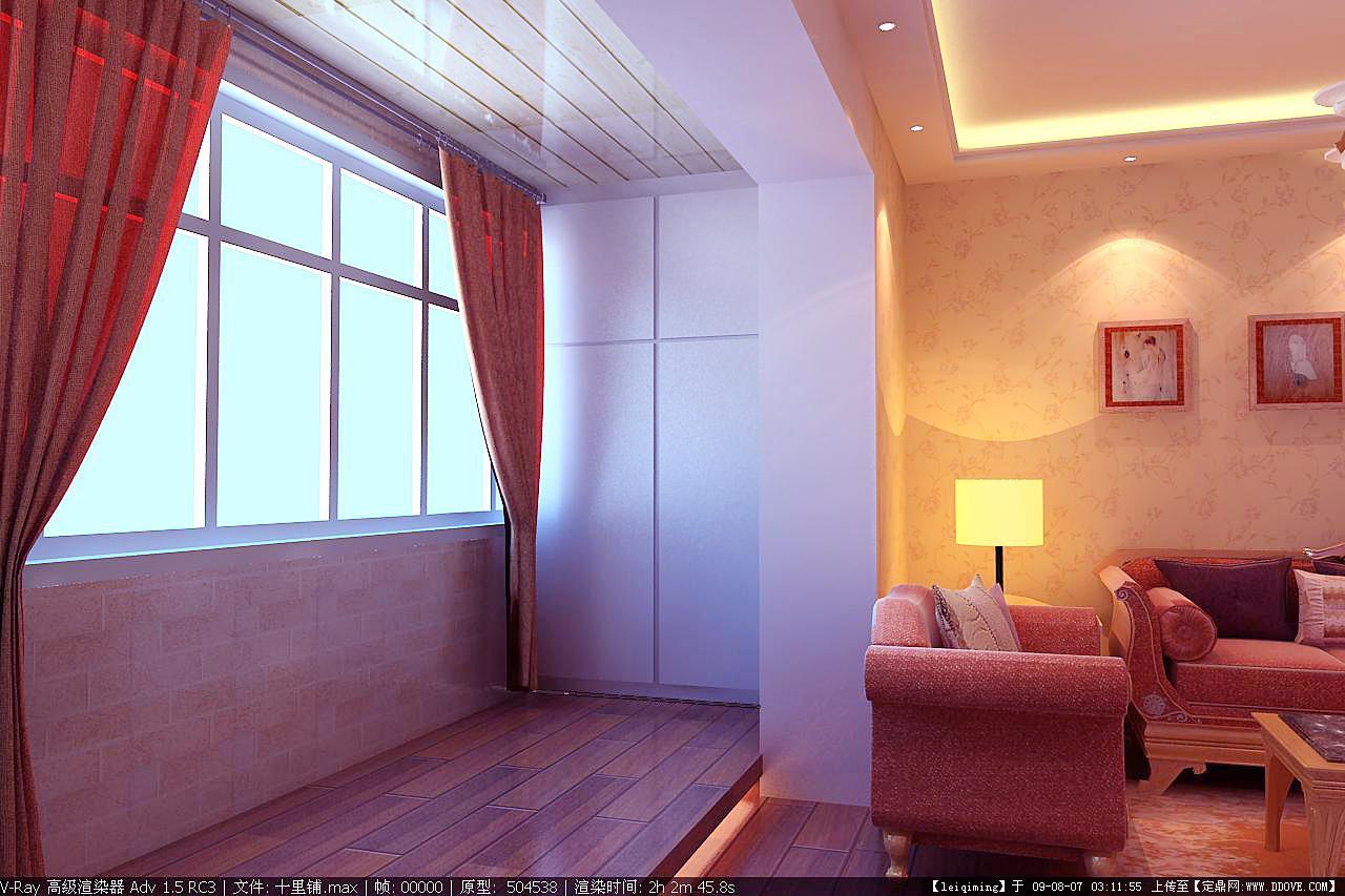 房间窗套效果图