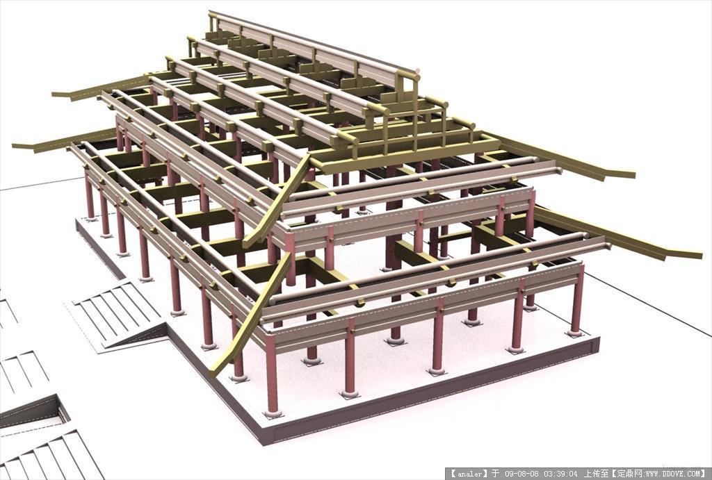 古代建筑3d模型; 木门窗图集