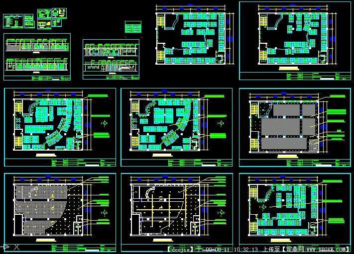 网吧cad图的下载地址,建筑方案图纸