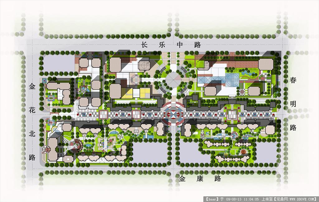 居住区中心区规划设计psd