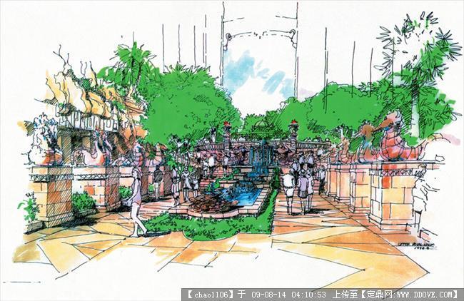 edsa2005年麦克笔手绘图若干幅的图片浏览,园林效 果