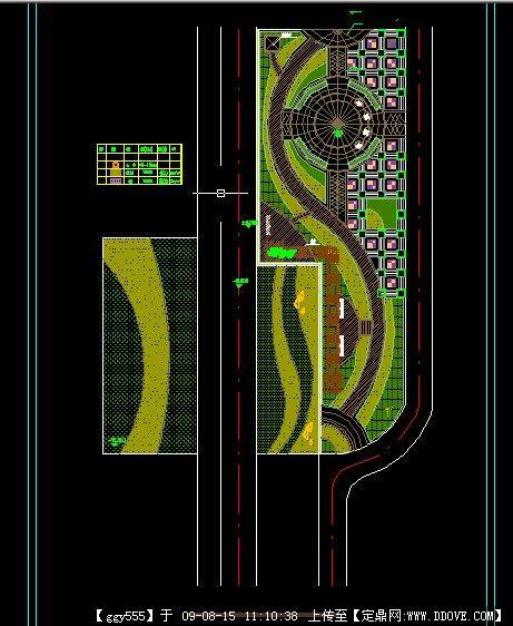 某广场种植设计总平面图