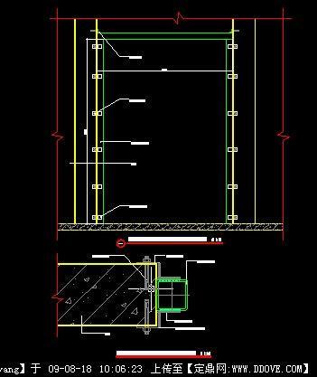 实木线条吊顶节点