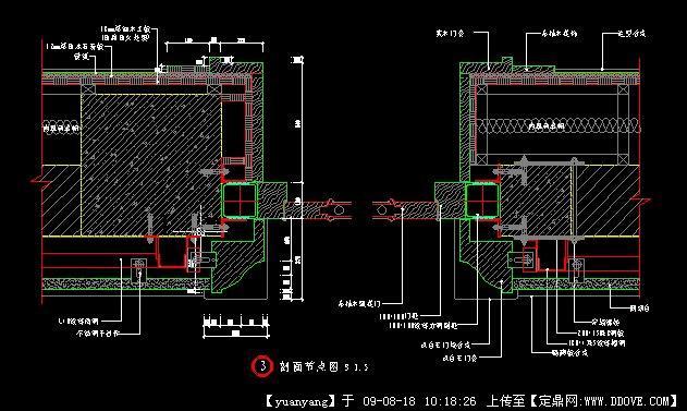 室内家具节点大样图钢结构节点大样图节点大样图; 石材与门套交接节点