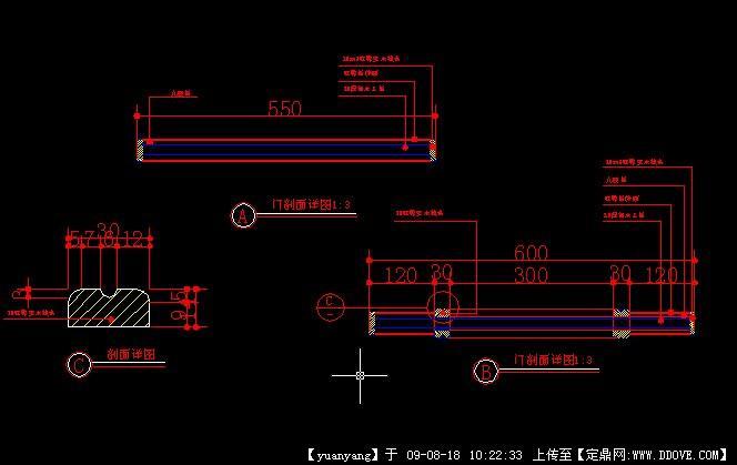 实芯木门节点图1