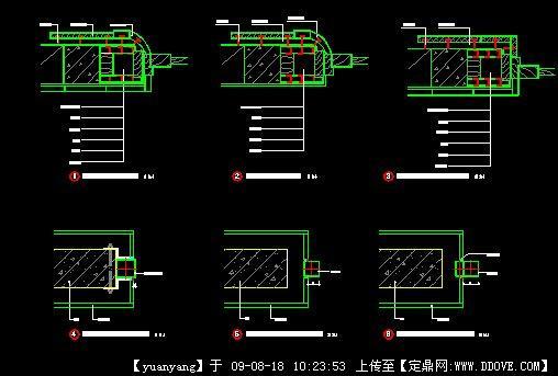 实芯木门节点图3 实芯木门节点图3