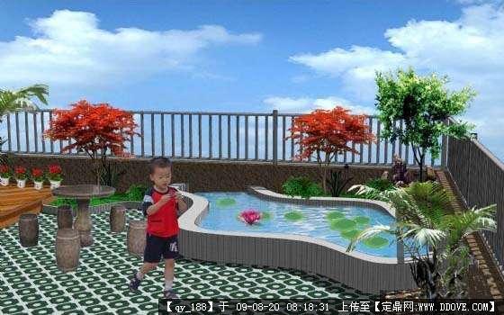 屋顶花园设计效果图