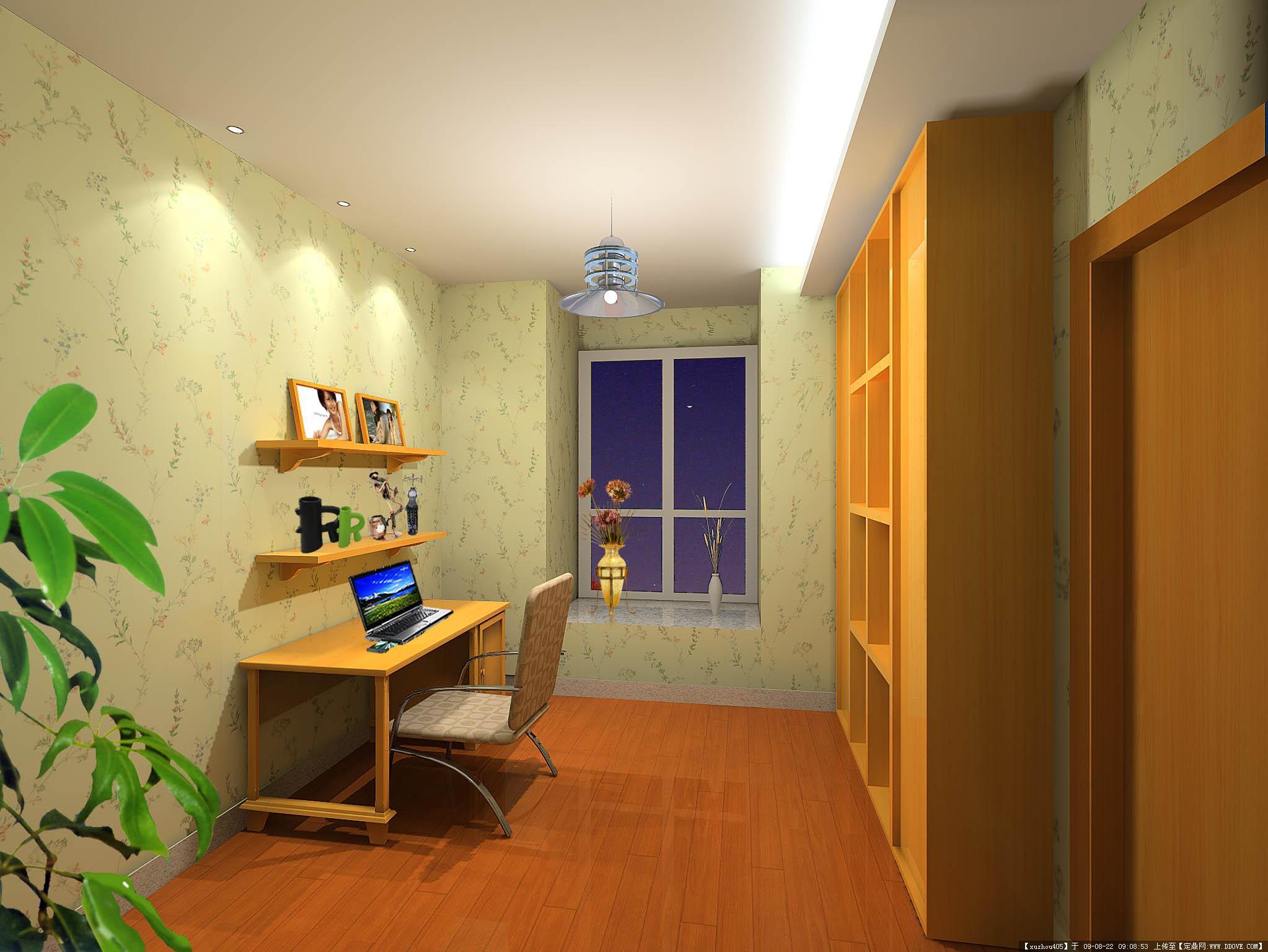 家装设计-书房效果1张