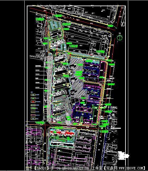 一个居住区v工具工具CADcad图轴动态总图测图片